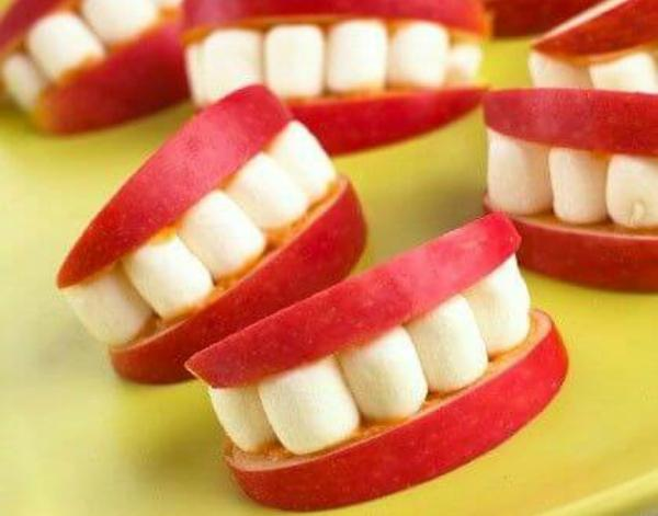 Apple Marshmallow Teeth