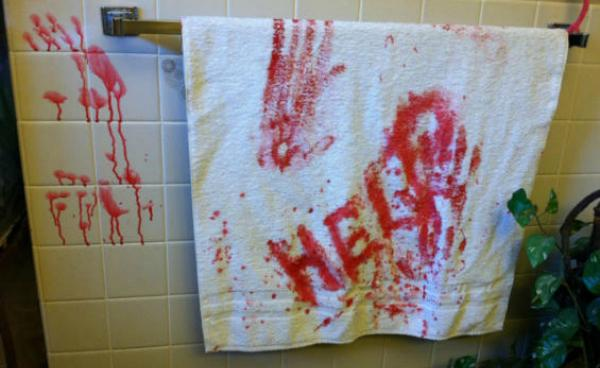Bloody Handprints Towels