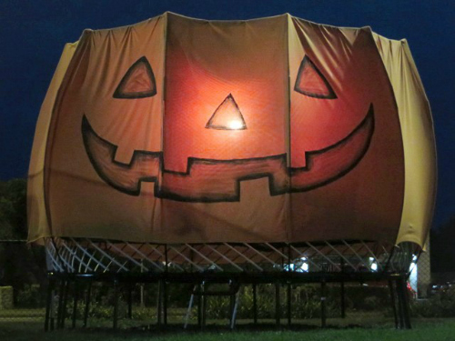 Pumpkin Trampoline At Night